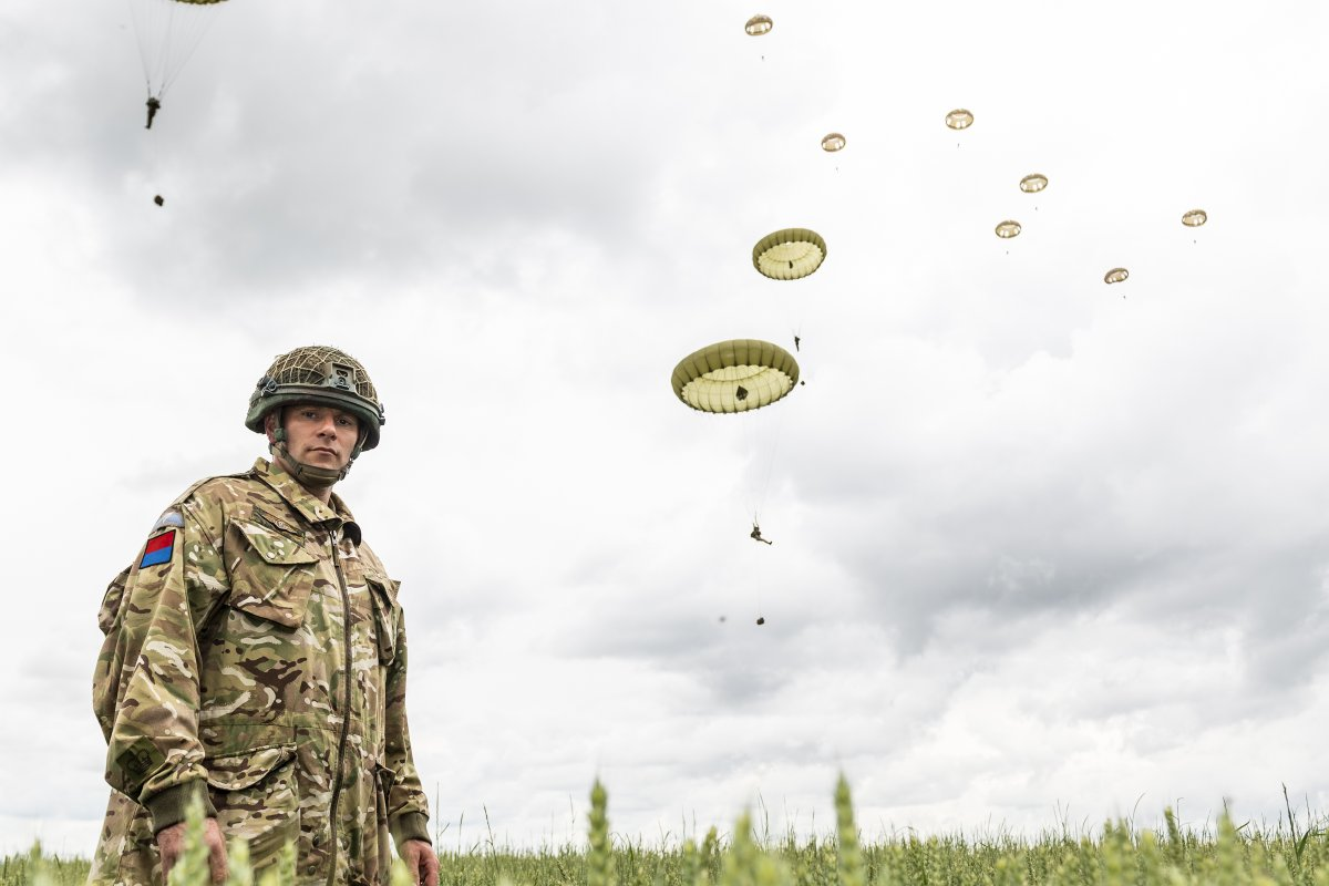 #AirborneAdvent 6: The paratroopers tribute - the Brigade took part in #DDay75 commemorations in Normandy, including a parachute jump on to a DZ at Sannerville used by 6th Airborne Division in 1944.