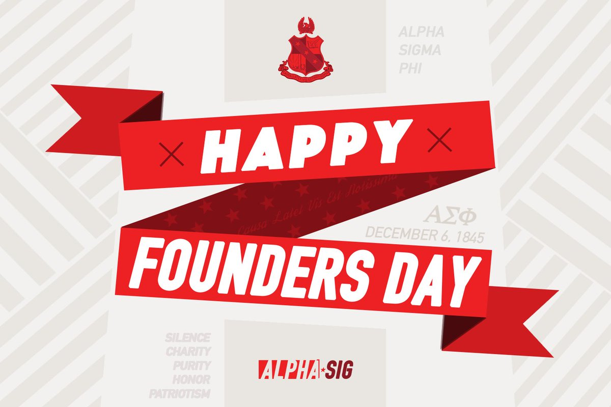 On our 174th Founders Day, may we remember the reason we joined this great brotherhood, reminisce in the memories we've made throughout the years and be enthusiastic about the bright future of the Old Gal. Happy Founders Day!<br>http://pic.twitter.com/3IJ64wZrb6