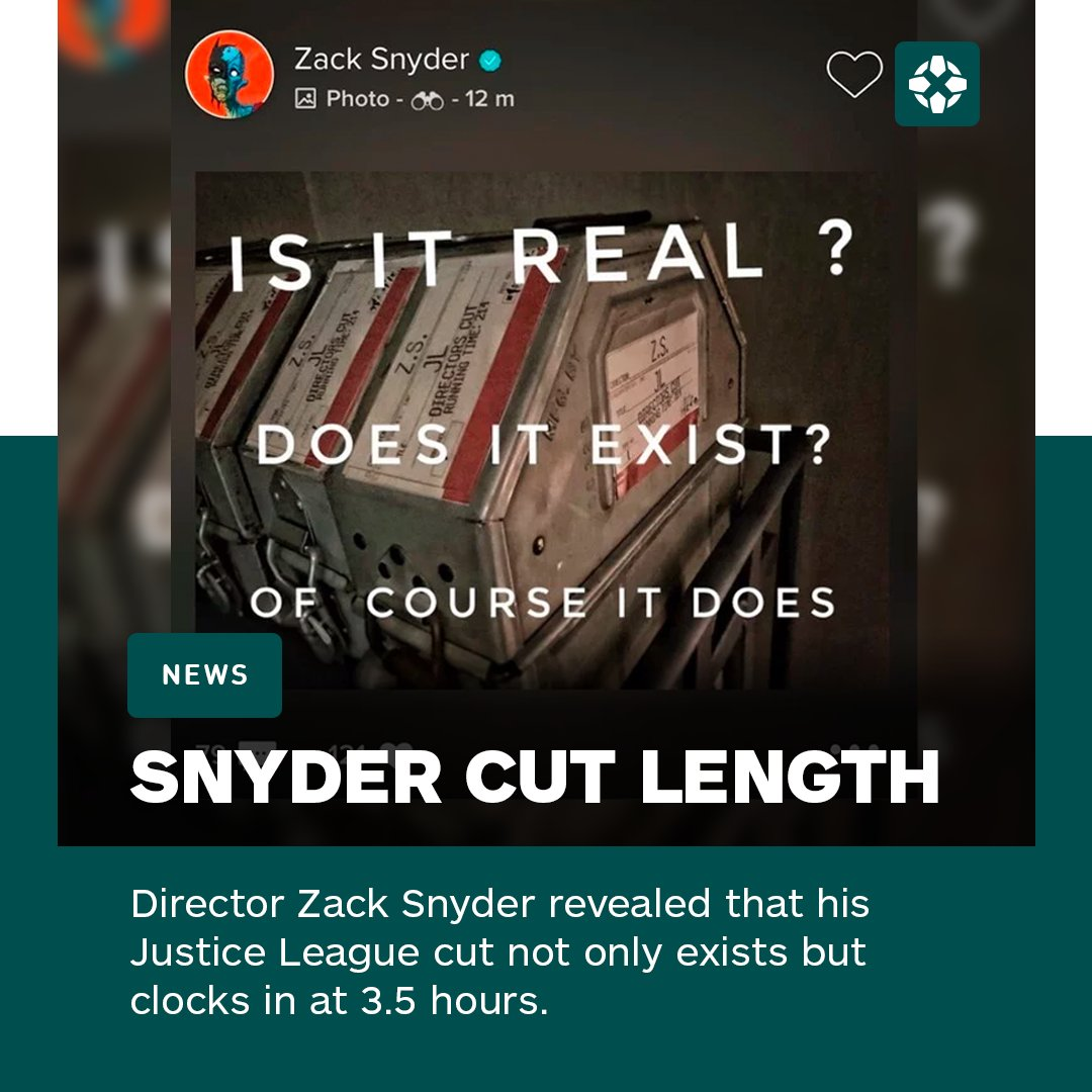 """Justice League's """"Snyder Cut"""" is real, and it is LONG."""