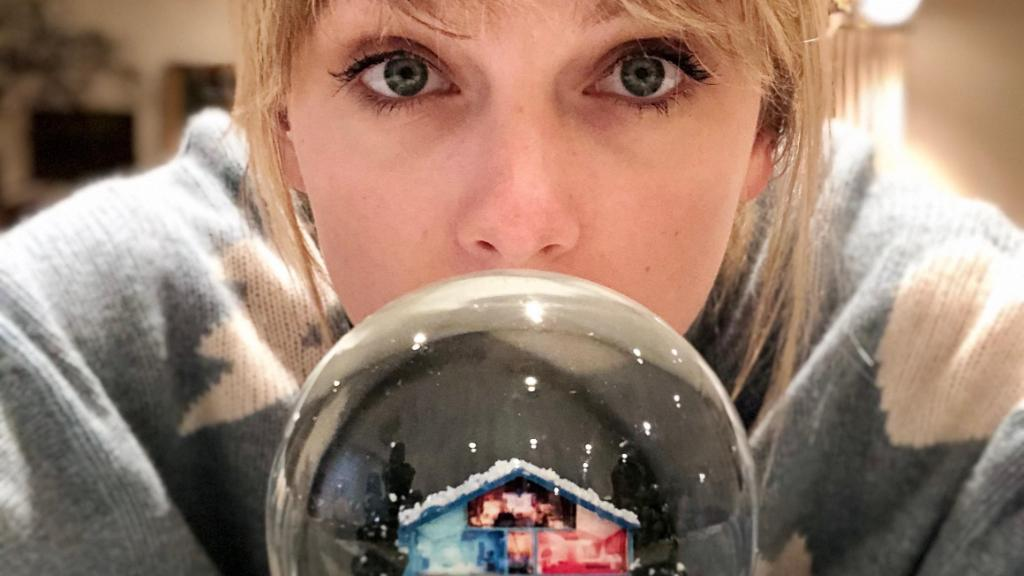 """It's rumored that if you say """"Alexa, play the new Taylor Swift on @amazonmusic"""" out loud, it will make Santa like you more. 🤷♀️✨🎅📜"""