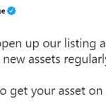 Image for the Tweet beginning: .@Poloniex will begin listing new