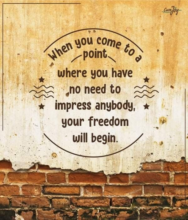 """""""When you come to a point where you have no need to  impress anybody,  Your freedom will begin.""""  #fridaymorning #FridayFeeling<br>http://pic.twitter.com/Yju2Z2pgkS"""