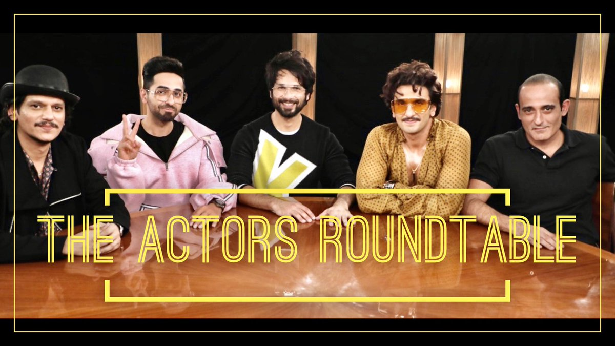 Meet the men who delivered some of the best performances this year! Vijay Varma, Ayushmann Khurrana, Shahid Kapoor, Ranveer Singh, and Akshaye Khanna at #TheActorsRoundtable2019. Airs next weekend on @CNNnews18<br>http://pic.twitter.com/b6fiNuOqC4