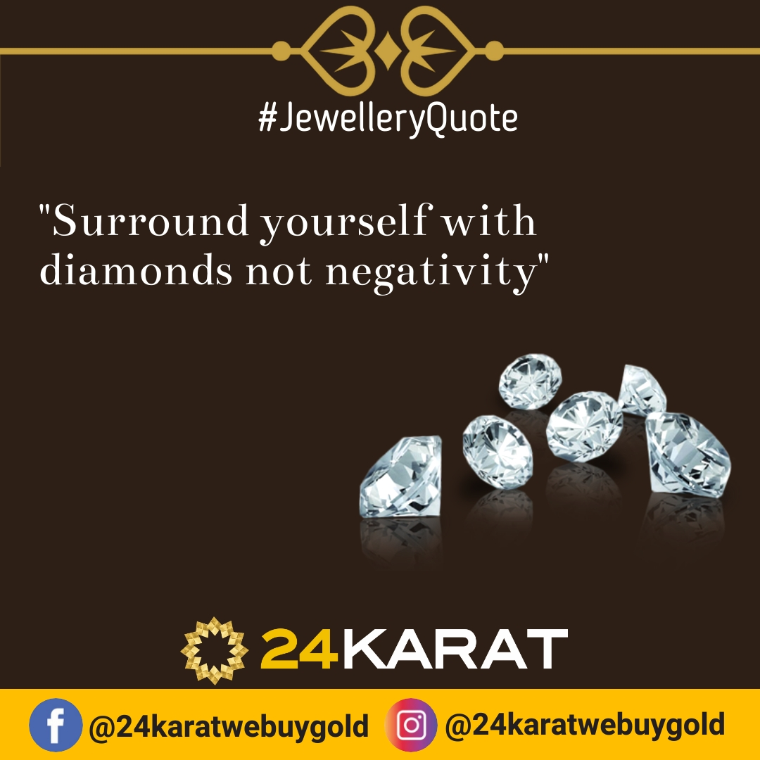 """#Fridayquotes: """"Surround yourself with diamonds, not negativity"""". #FridayThoughts<br>http://pic.twitter.com/h1V7hnFx9s"""