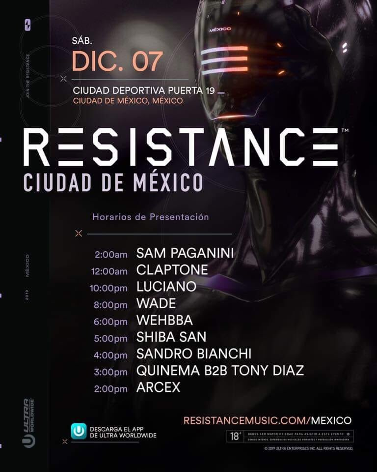 Listos los horarios para @resistance Mexico ¡No Techno, no party!#resistance #resistancemexico #resistencecdmx #resistancemusic #technomusic #techno #technolovers #technodance #technoparty #dnaradiomexico #Beatificado #reverendofuhrer