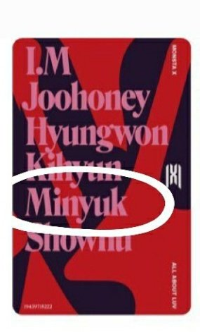 The back of the photocards... they misspelled Minhyuk's name...<br>http://pic.twitter.com/jN8IezOL1B