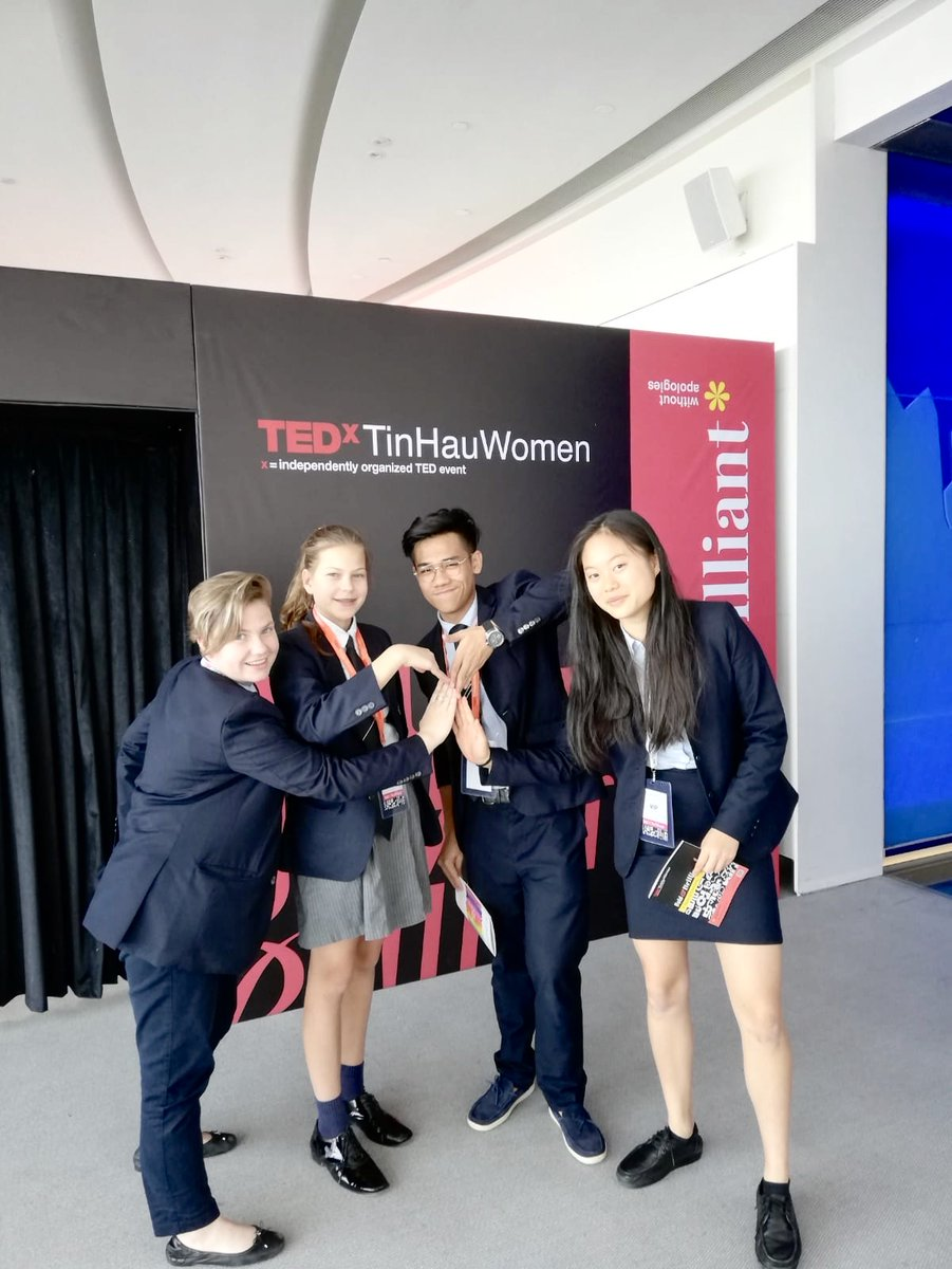 Our pupils are having a great time at TedxTinHauWomen taking place at the Sky100! Some pupils are volunteers and some are the winners of our in house #BoldAndBrilliant essay writing competition. #FeelingEmpowered #TEDxwomen
