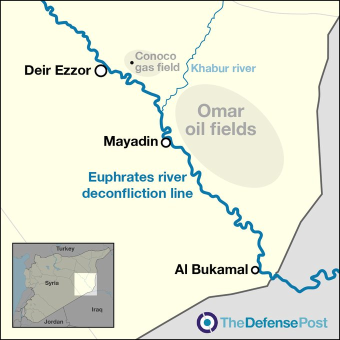 Επίθεση δέχθηκε η κατοχική βάση των ΗΠΑ στο πετρελαϊκό πεδίο al Omar στη Deir Ezzor.