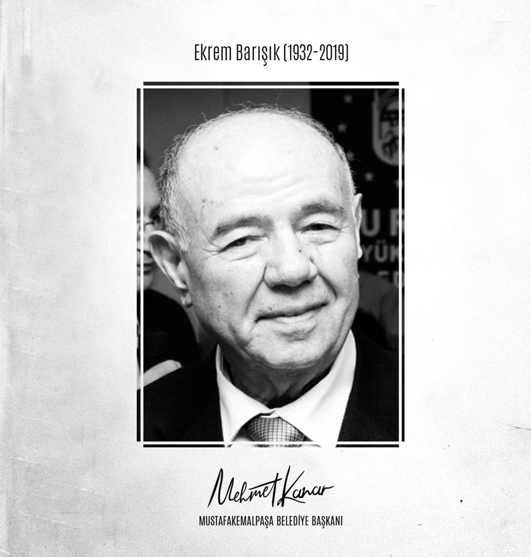 Bursa'mızın ilk Büyükşehir Belediye Başkanı Ekrem Barışık'ın vefatını üzüntü ile öğrendim. Merhuma Allah'tan rahmet, sevenlerine ve yakınlarına baş sağlığı dilerim.