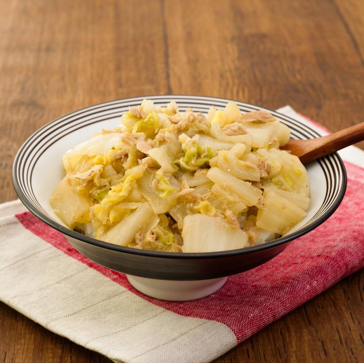 【白菜のうま煮丼】煮汁がご飯にしみしみで旨…白菜でこんなご飯進むの?