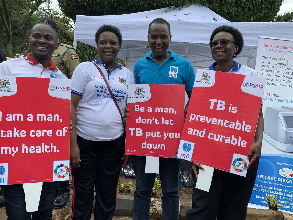 "Happy to join the men at the commemoration of #InternationalMensDay under the theme ""Engaging Men and Boys for a healthy and violent free nation"" at Constitutional Square. A range of health services are available FREE of charge for the men."