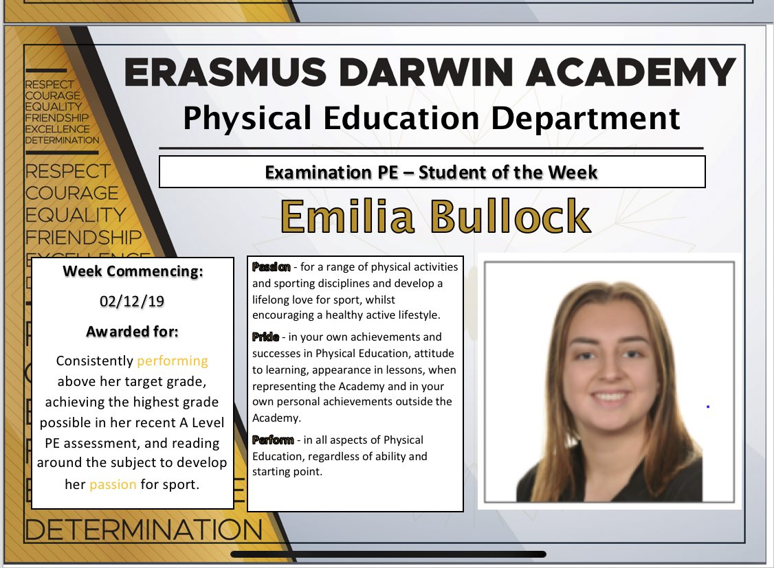 Our Head Girl adds this to her achievements alongside being a great ambassador for the Academy, a brilliant public speaker, fluent in Italian and a hard working young lady. Well done Emilia #weareEDA
