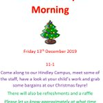 Image for the Tweet beginning: Christmas Fayre morning Secondary Campus