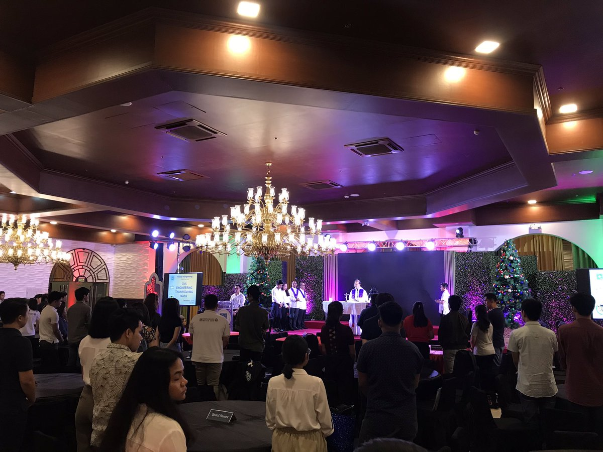 LOOK: Newly licensed Thomasian Civil Engineers gather at the Dr. Robert C. Sy Grand Ballroom for the Thanksgiving Mass and Testimonial Dinner <br>http://pic.twitter.com/qiGBLqB3fe