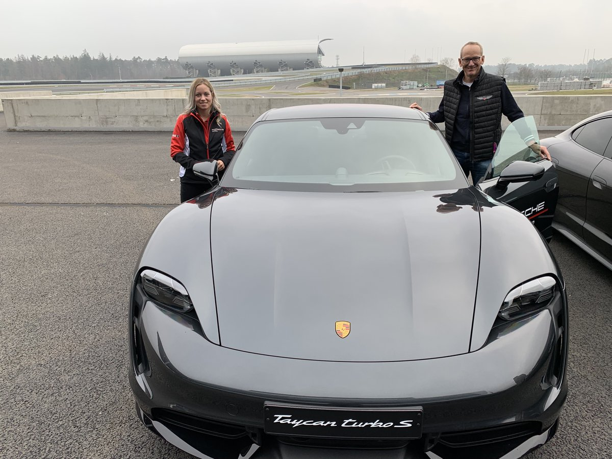 I had a great day today being able to drive the @Porsche #Taycan for the first time. I was invited to #Hockenheim and I am absolutely impressed about it's driving behaviour and emotionality. This is my next car!  \KTN