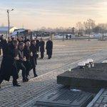 Image for the Tweet beginning: Auschwitz Survivors, Chancellor Merkel &