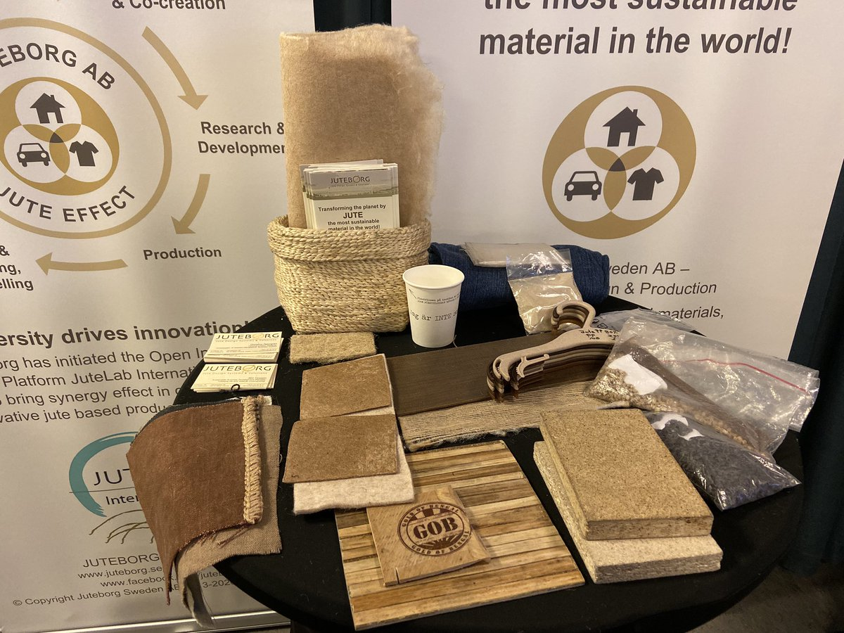 Another exciting company we met today at #IBF2019 is @Juteborg_AB who buy jute from farmers in Bangladesh and develop construction materials, te stole and even plastic substitutes from this fast growing sustainable plant. Check them out: http://www.juteborg.sepic.twitter.com/b9ZByumQVx