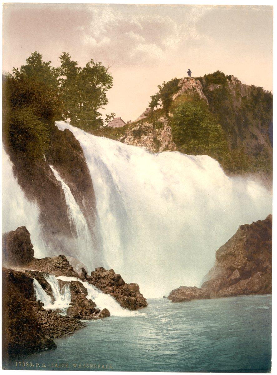 Jajce waterfall, #Bosnia [Views of the Austro-Hungarian Empire, 1905]<br>http://pic.twitter.com/MQxTe8ul1S