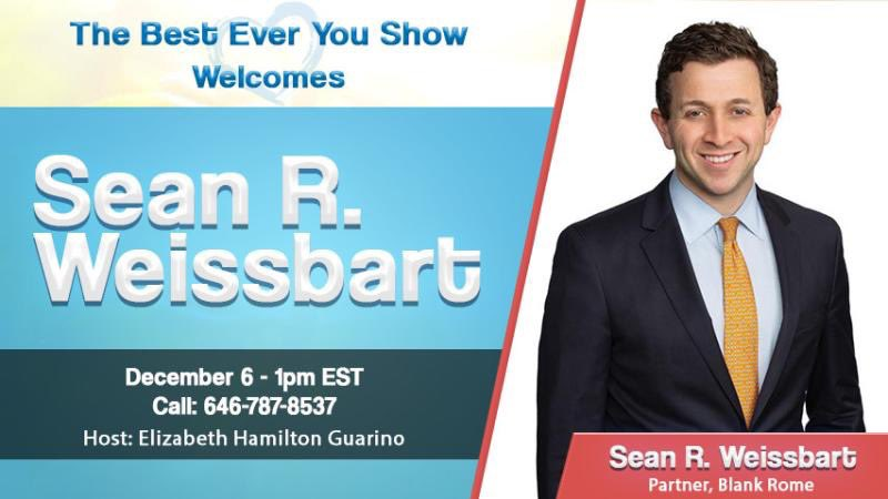 Join us! Friday, 12/6: Sean R. Weissbart will be my guest on The #BestEverYou Show to discuss #GivingTuesday, #EstatePlanning, and other #financiallifecycle targets. More info:  https://www. blogtalkradio.com/besteveryou/20 19/12/06/sean-r-weissbart--your-estate-planning-lifecycle   …   #financialservices #financialwellbeing<br>http://pic.twitter.com/svJiLgXyiz