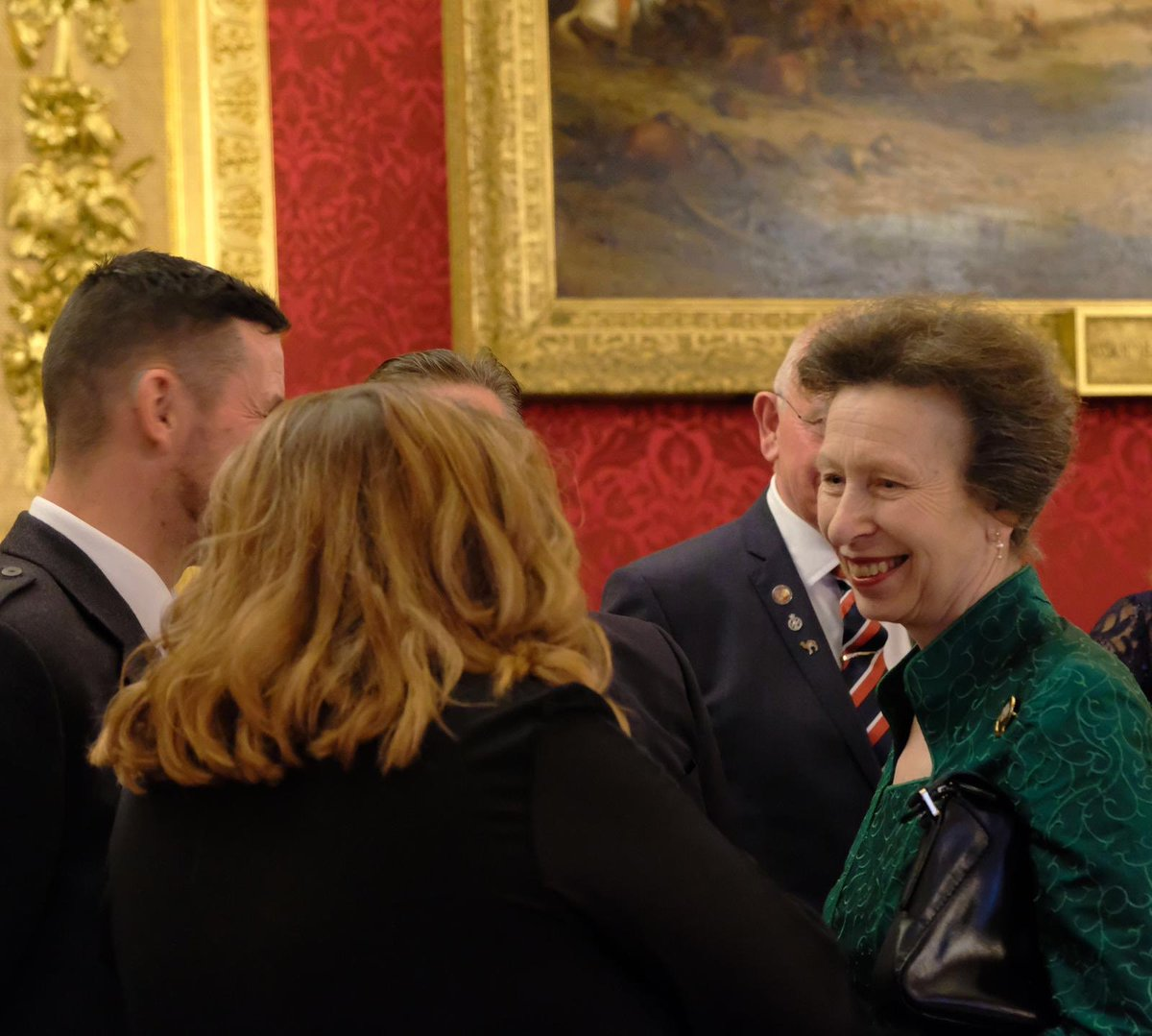 The Princess Royal attended the annual Christmas reception for 'The Not Forgotten' ex-servicemen and women at St James's Palace yesterday 🎄✨🎉 @nfassociation supports over 10,000 vulnerable members of the Armed Forces each year.