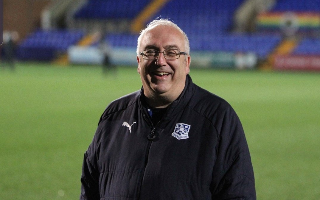 We'd like to wish Club Photographer and Programme Editor  (amongst many other things) Tony Coombes, a happy 20th anniversary of working for the Club!  Tranmere stalwart   #TRFC #SWA<br>http://pic.twitter.com/sYBT2mucBm