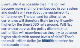 Deutsche Bank analysts are positing that the world may be using bitcoin as a Unit of Account in 2030.   One by one, individuals and companies alike are bending the knee to the hardest money the world has ever seen.   What a time to be alive.    https://www. dbresearch.com/PROD/RPS_EN-PR OD/PROD0000000000503196/Imagine_2030.pdf   … <br>http://pic.twitter.com/gm4PgKrJPr