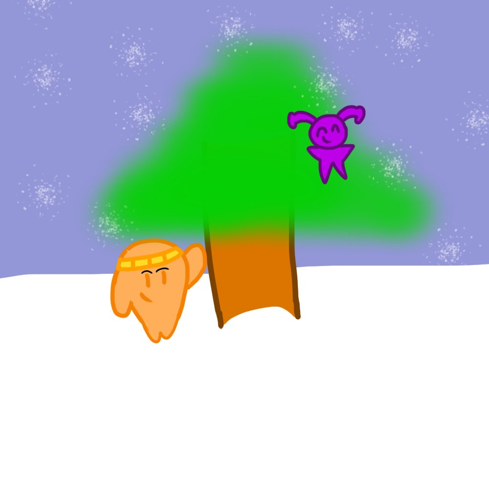 #JackboxFanart Jeff/Alpha and Jerry/Jester finding a good Christmas Tree