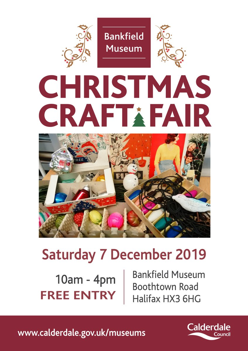 Bankfield Christmas Craft Fair - tomorrow 10am - 4pm. Lots of lovely local gifts, festive atmosphere and the #GentlemanJack costumes to see! #PerfectChristmasDayOut #FestiveFriday