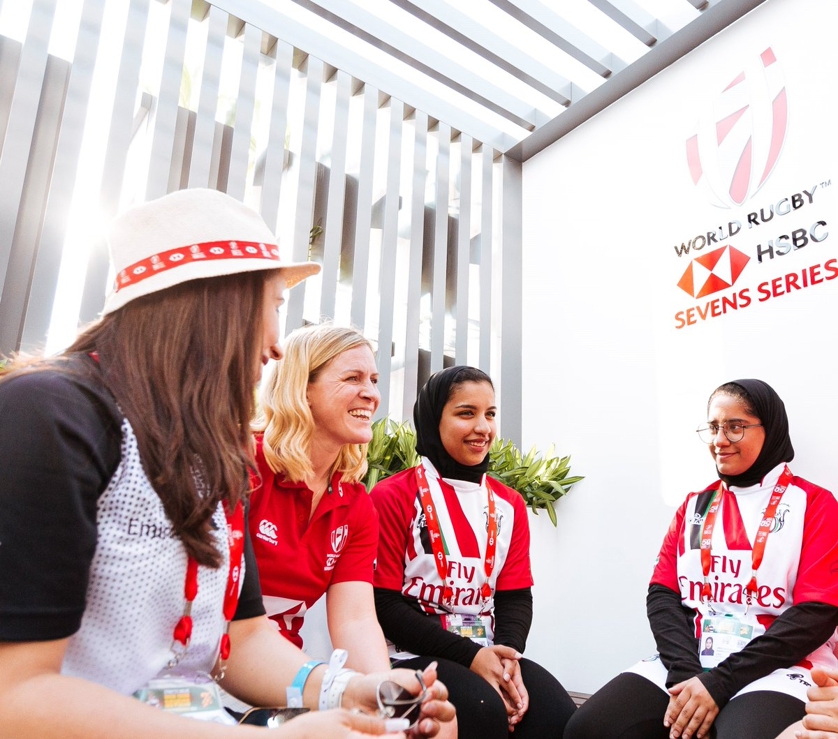 Inspiring change. The Al Maha team pioneering womens rugby in the UAE. #HSBC7s #Dubai7s #Rugby7s