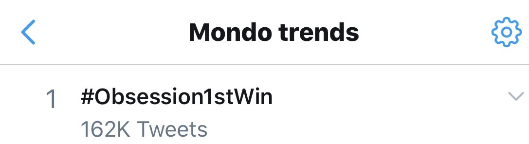 #Obsession1stWin
