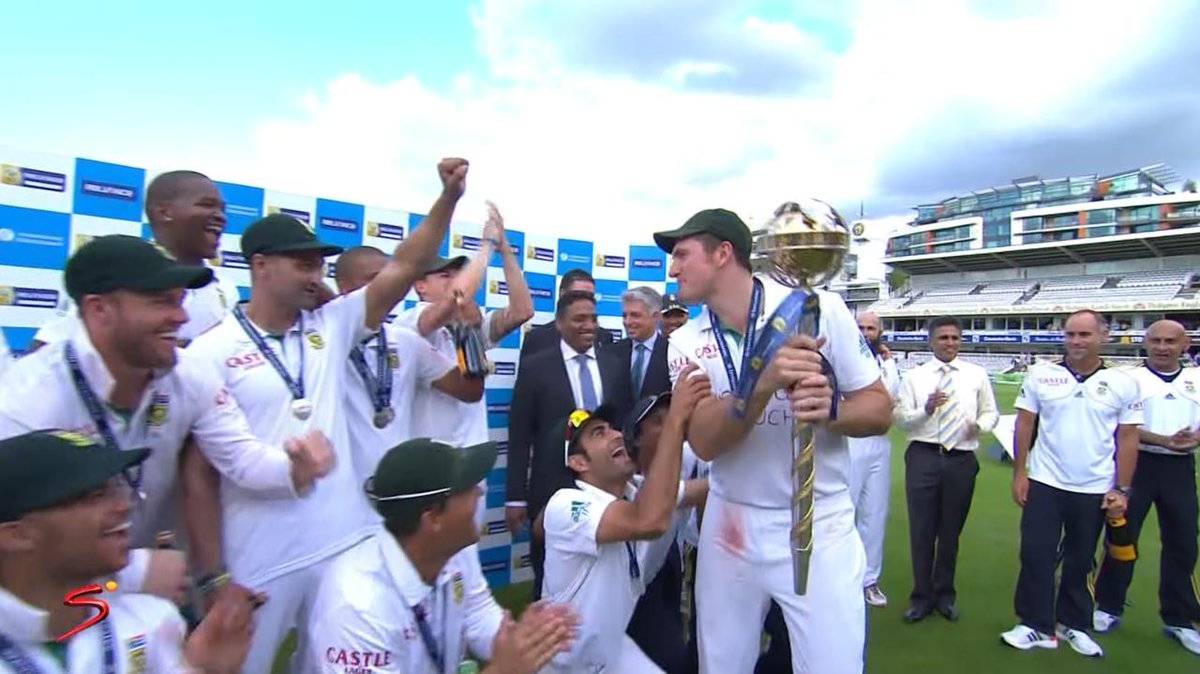 Image for the Tweet beginning: In 2012, the Proteas led