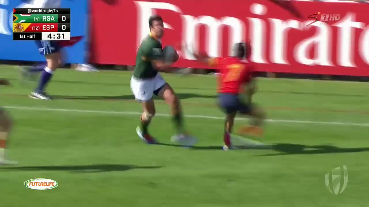 Image for the Tweet beginning: #Dubai7s - HALFTIME:  South Africa 14-0