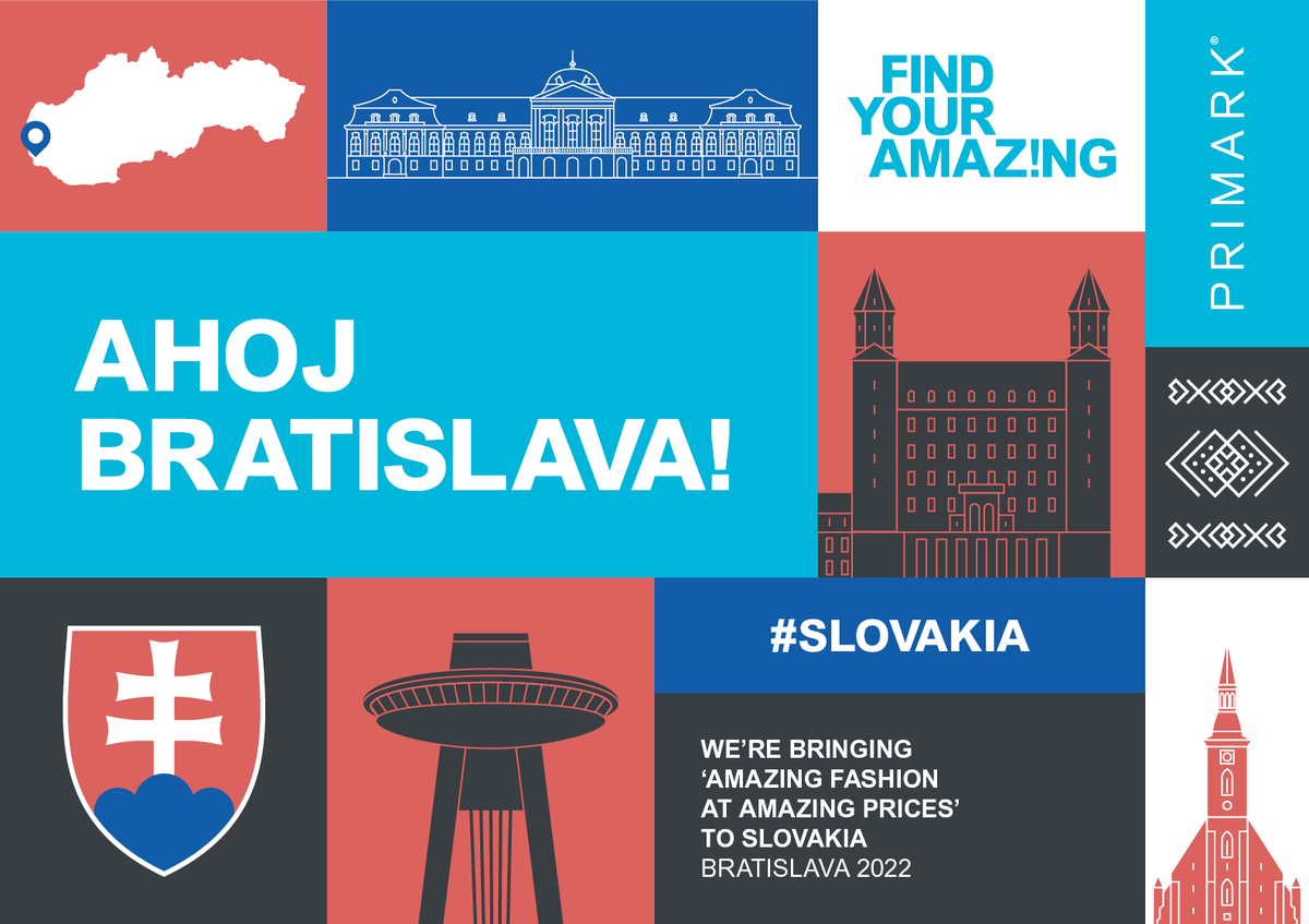 New country alert! We are excited to announce that we will be opening our first store in Slovakia in 2022. This will be the 15th country to welcome Primark. Want to discover Primark roles near to you? Find out more today: https://t.co/EWvOdnvwwn https://t.co/GUZGpmh2H4