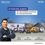 Image for the Tweet beginning: Tata Motors service is now