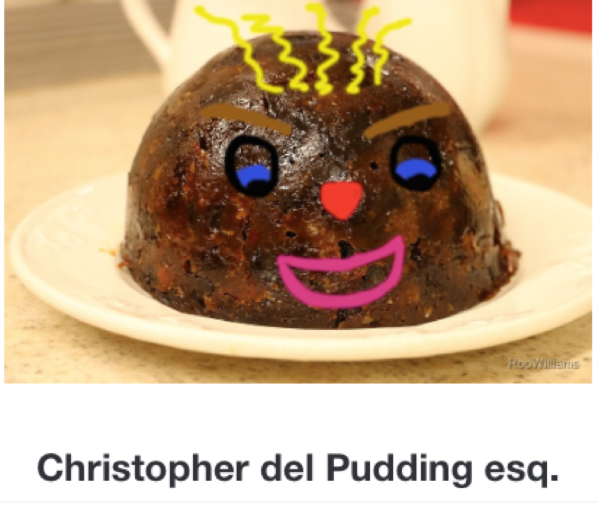 Christopher del Pudding esq wishes everyone an #awesome #weekend!  #friyay #FridayFeeling #ChristmasIsComing #Christmas2019 #ArtistOnTwitter #photographer