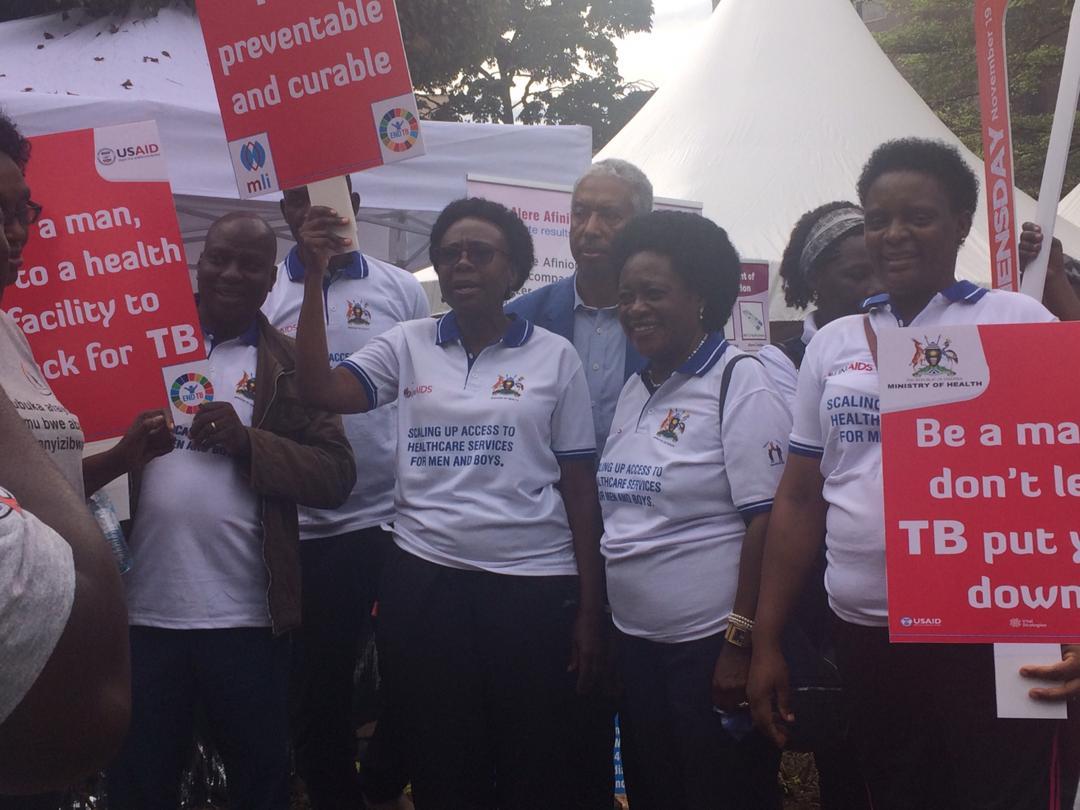 #InternationalMensDay  @JaneRuth_Aceng leading the men's day awareness walk in Kampala. Later she will launch the male involvement strategy. @MenEngageAfrica @MabelNabz @kemea10
