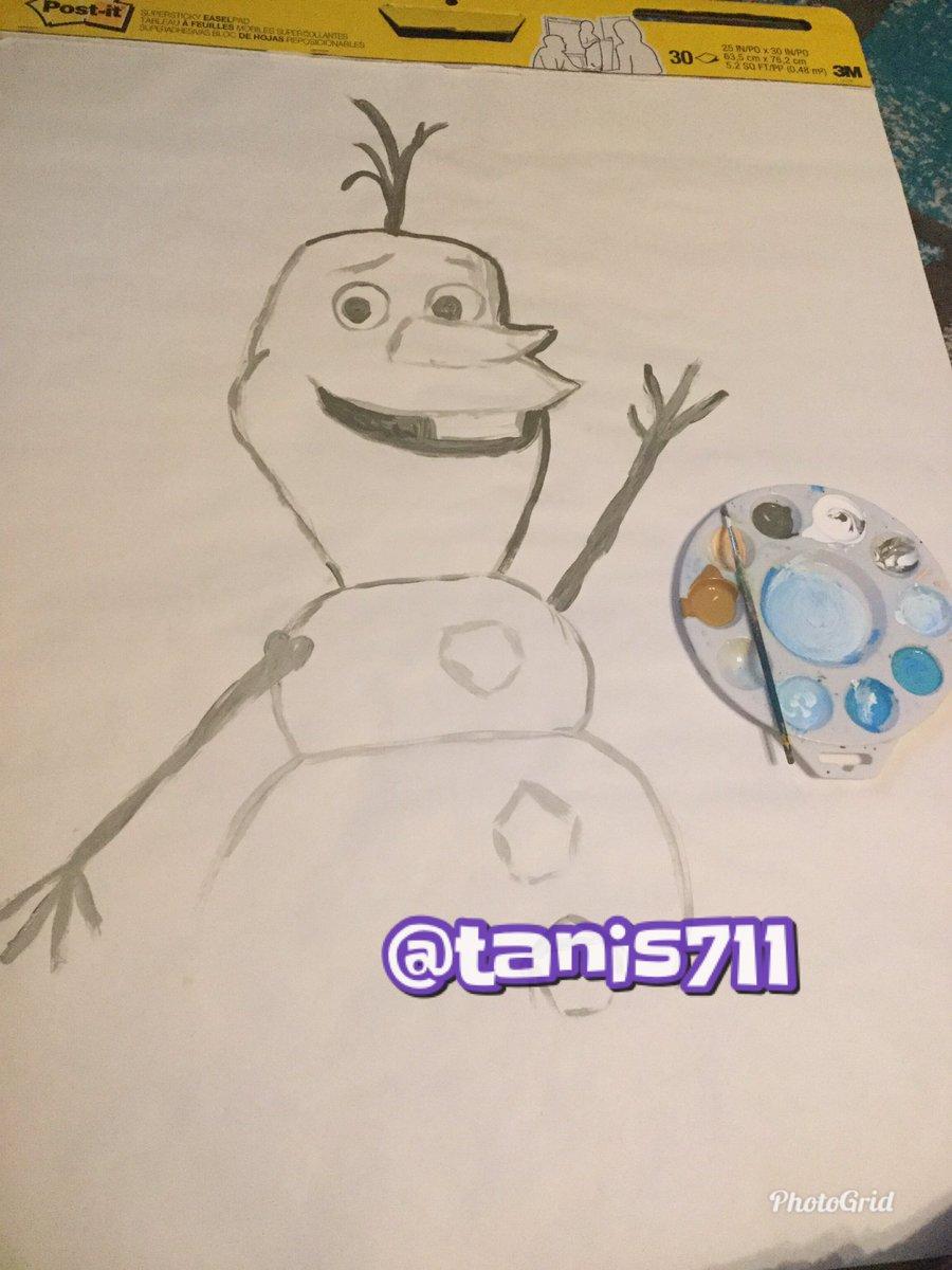 Now I'm working on Olaf! Stay tuned for more tomorrow! #art #artist #frozen #olaf #paint #painting #doordecoration #doordesign #fanart #disney #preschoolteacher