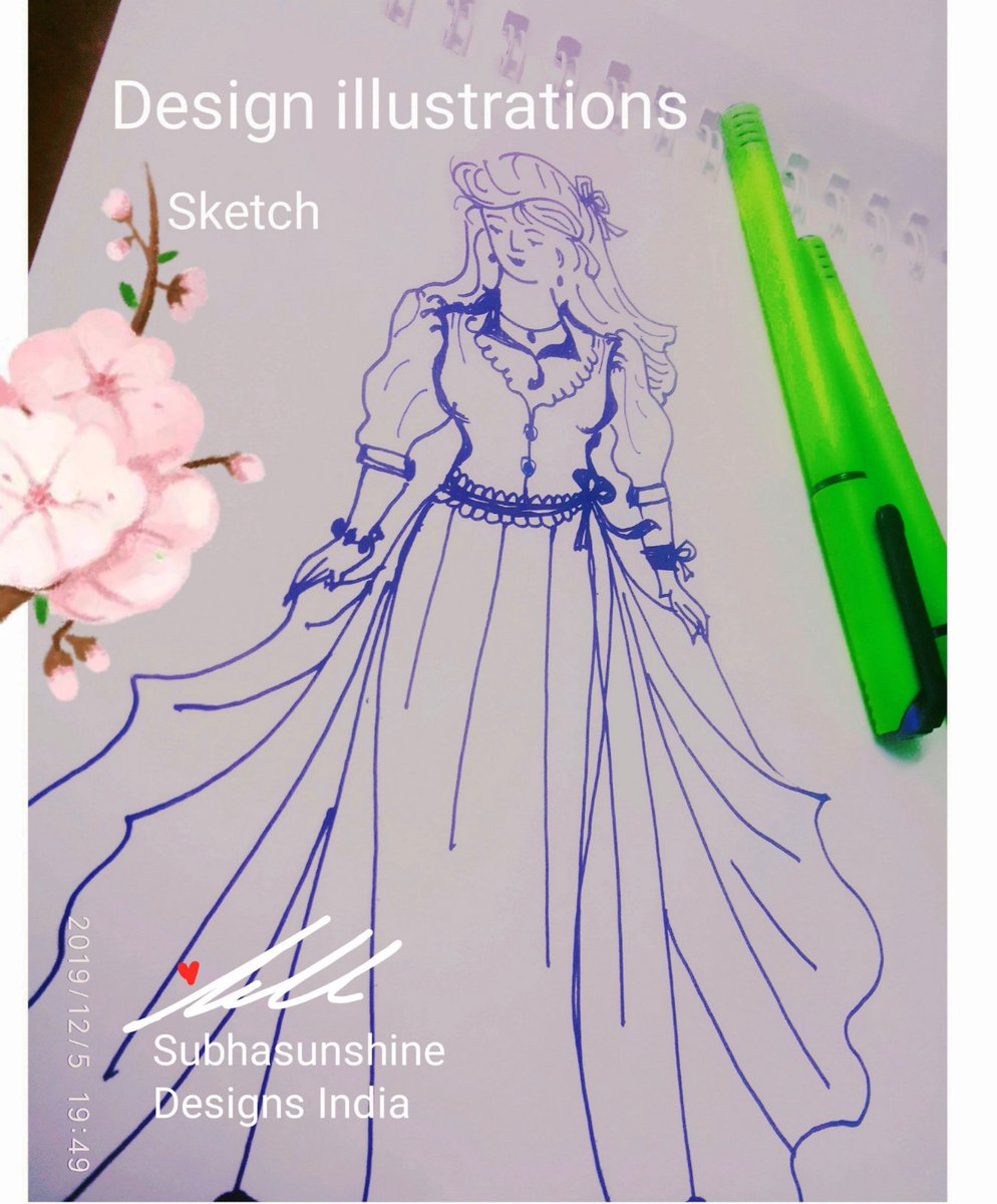 Just trying to Add Beauty with #art #illustrations , Disney Princess Dress.  Sometimes Graphic tab,editors, Art apps can teach you Tools, redo,erase,options.But #designthinking  #drawing freehand teaches  How Digital dependency & Detox can be balanced.  It's freedom of mind 🕊💙
