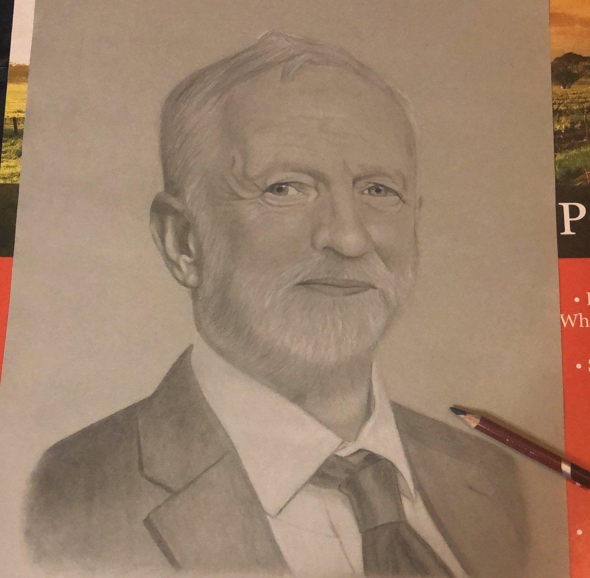 My #workinprogress of our next #PrimeMinister @jeremycorbyn 😎 . #JeremyCorbyn #VoteLabour #JeremyCorbyn4PM #GeneralElection2019 #Art #PoliticalArt #pencildrawing #Artist #JeremyCorbynArt #JC4PM #LabourParty