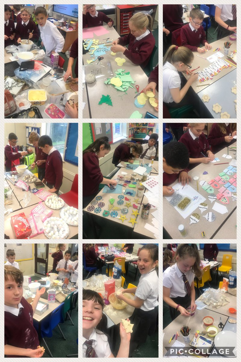 The production lines are in full swing in Year 6 for business and enterprise week. Which team will make the biggest profit?