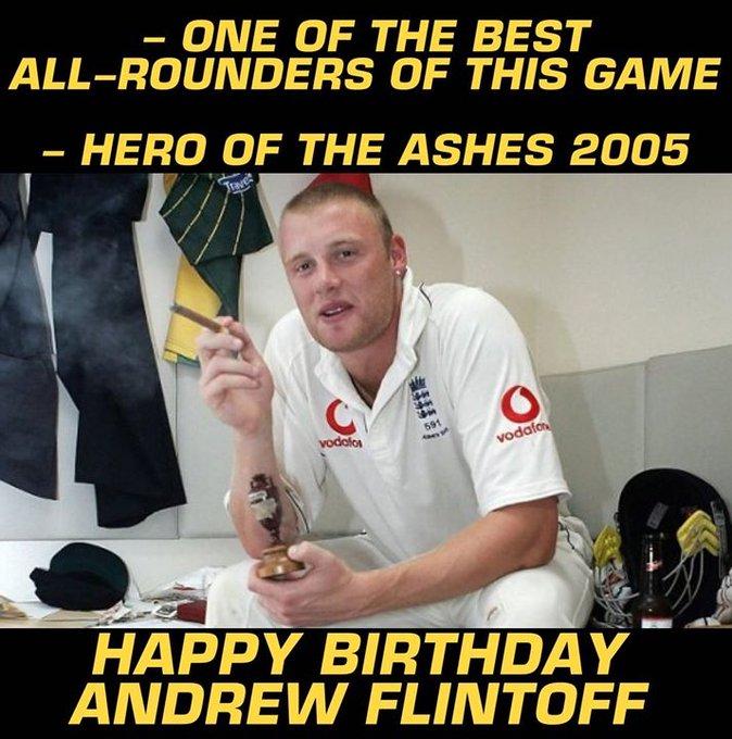 Happy Birthday, Andrew Flintoff