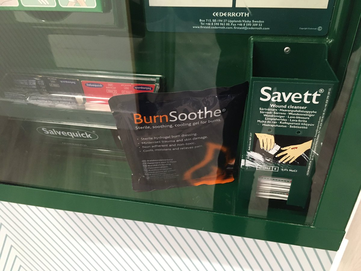 Had to do a double-take there. Unfortunate font choice in the work's first-aid cabinet.