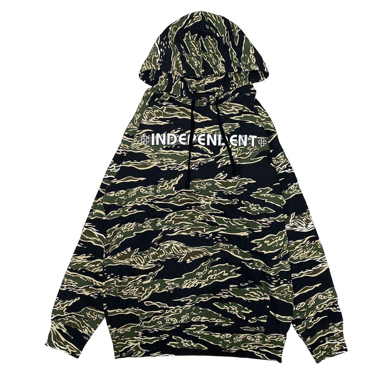 INDEPENDENTより商品が入荷しました。   #phorgun #independent #indy #hoodie #parka #パーカー #skateboarding #ironcross #tigercamo #タイガーカモ #fashion #渋谷