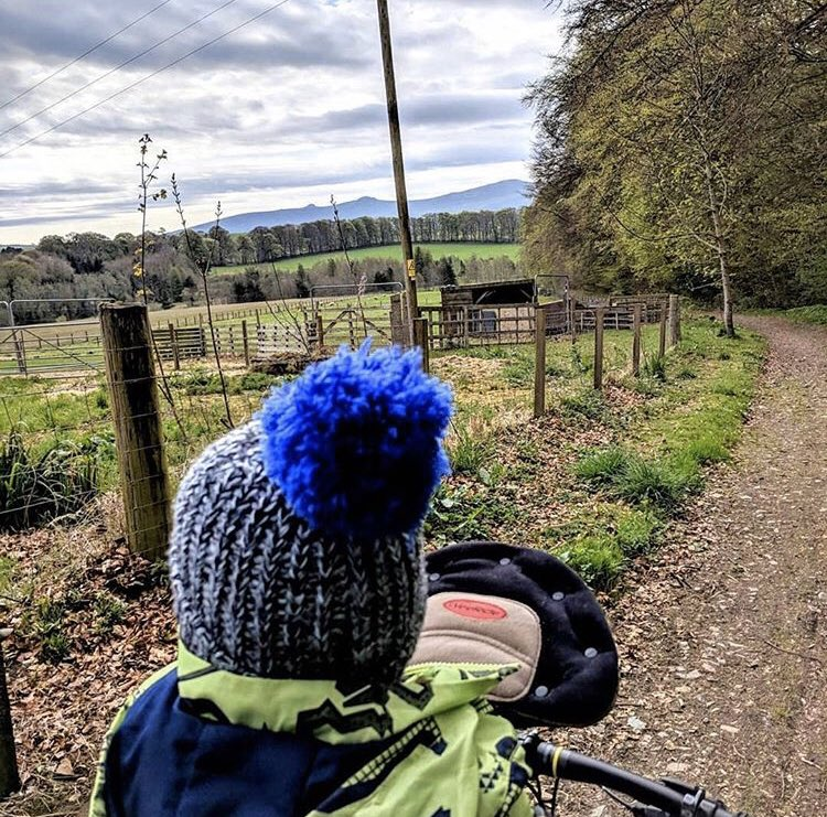 Time for a little #FlashBackFriday and this little #WeeRider 💙 #Repost @connorlyle Long Road To The Park #bikeride #offroad #crosscountry #boysdayout #playoutside #scotland #Aberdeenshire #scenery #weeride #bestpurchase #cyclingwithkids #cyclingwithbaby #familybikeride