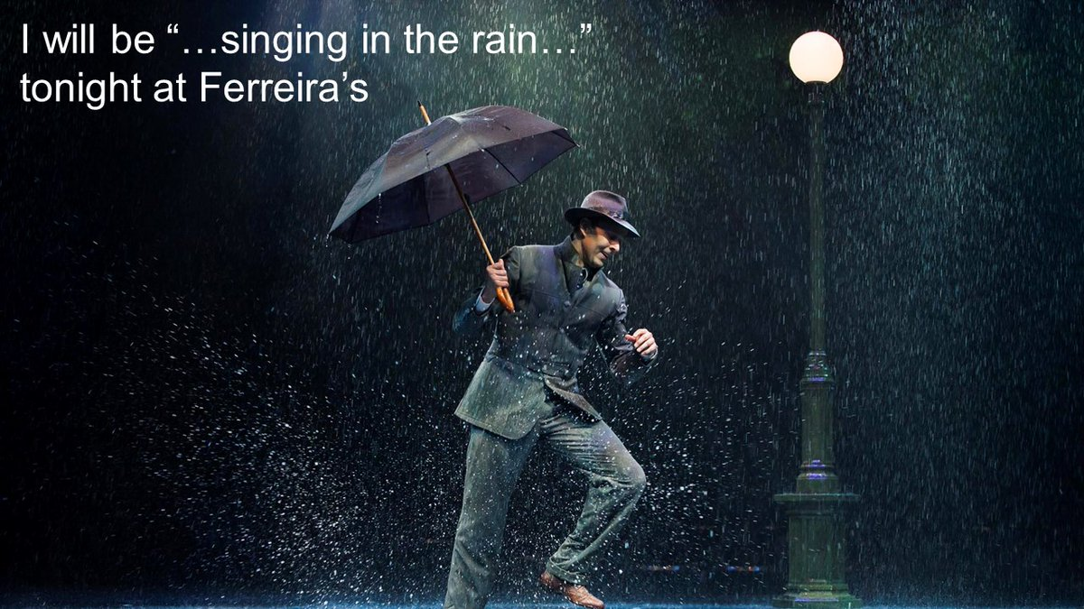 We are thankful for the rain!  Come rain or shine, I will be performing at Ferreira's tonight at 8 #Thankful #rain #shine #ferreiras #performingarts #singingdrummer #rockband @celebspottersa