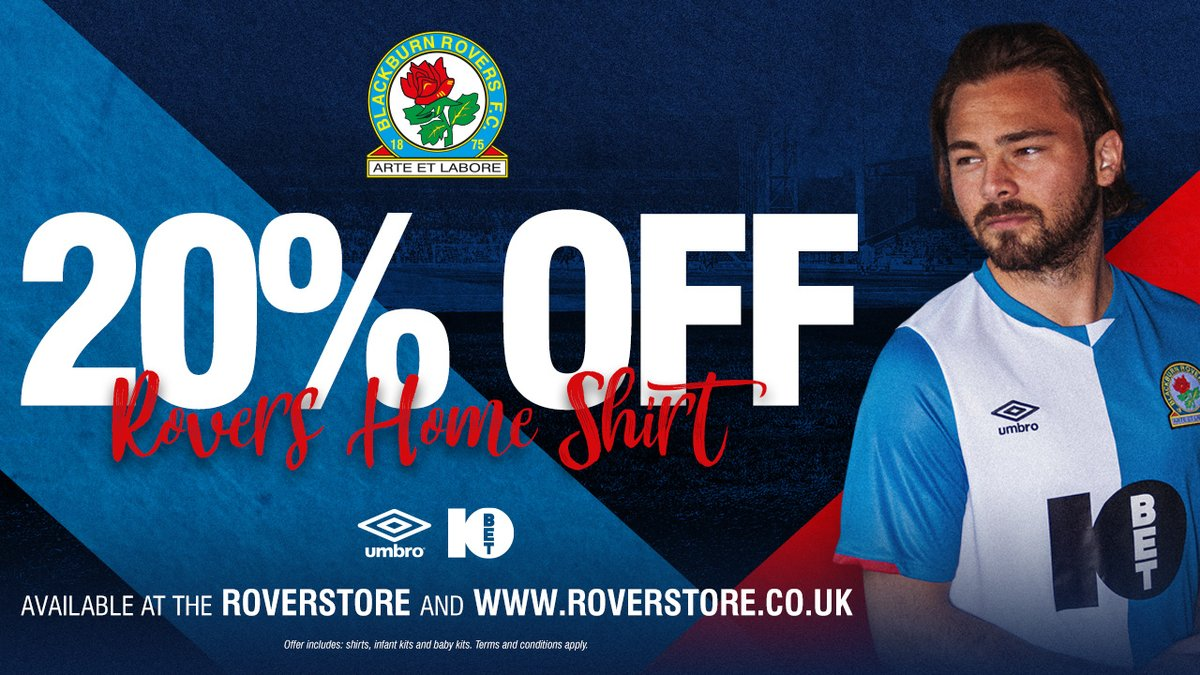 👕 The big Roverstore home shirt sale! ⏰ Take advantage of our 20% discount before midnight on Monday! ➡️ bit.ly/2s2Yi8E #Rovers 🔵⚪️ twitter.com/Rovers/status/…