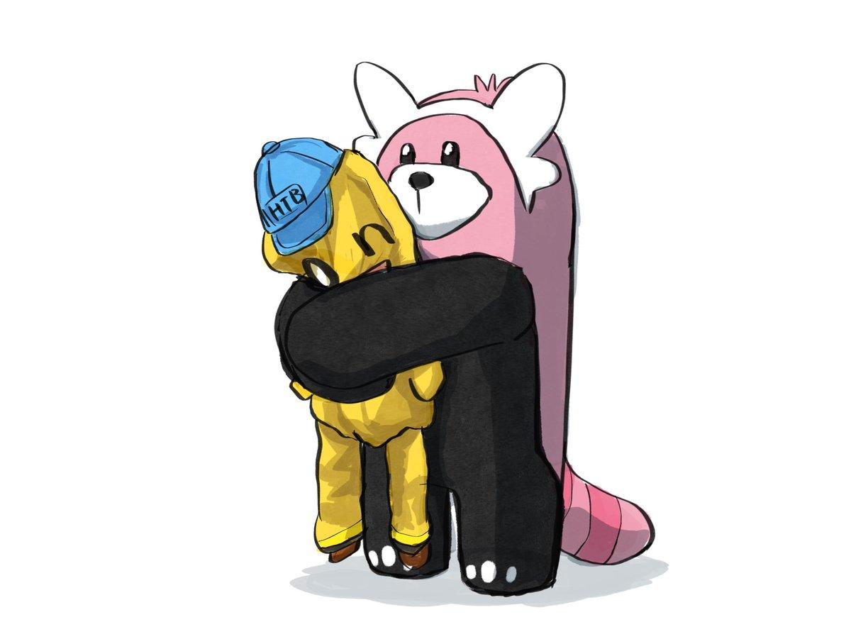 onちゃんを温かく抱擁するキテルグマ#ポケモン剣盾#pokemon#水曜どうでしょう#onちゃん