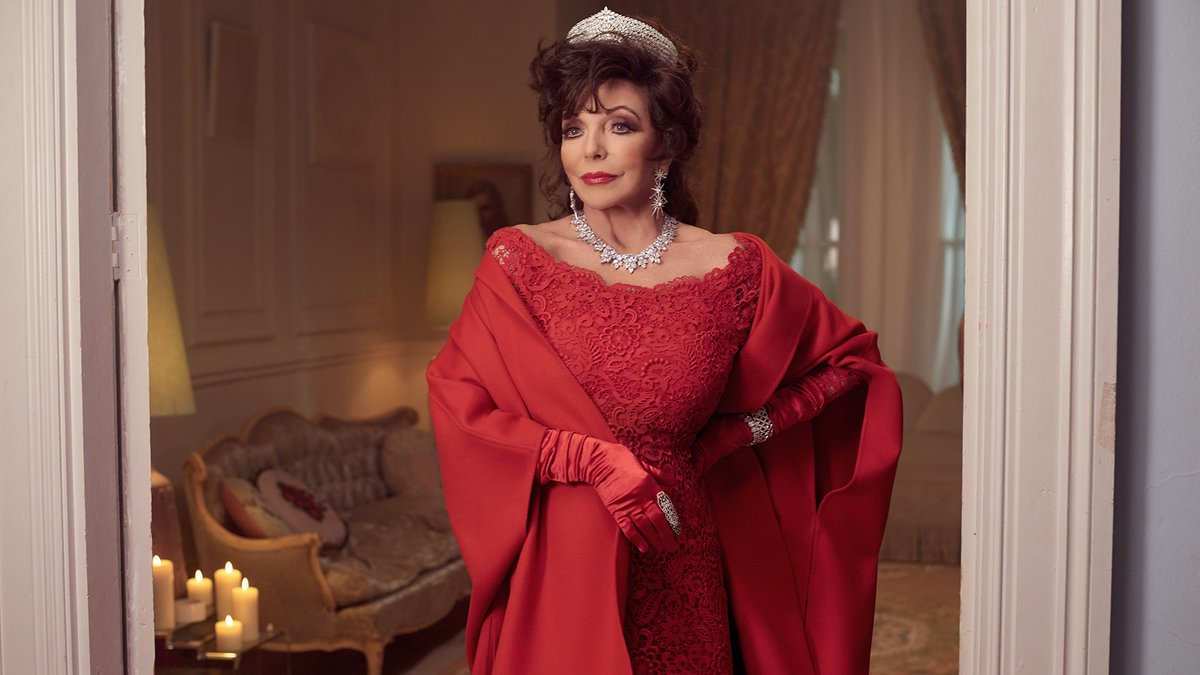 Nothing heats up a winter evening like a surprise by Joan Collins. For the new Valentino Holiday campaign, #JoanForTheHolidays, the icon brings cheer to a quiet winter's night, all dressed up in a red lace gown. Discover more on m.valentino.com/go/HolidaysGif…