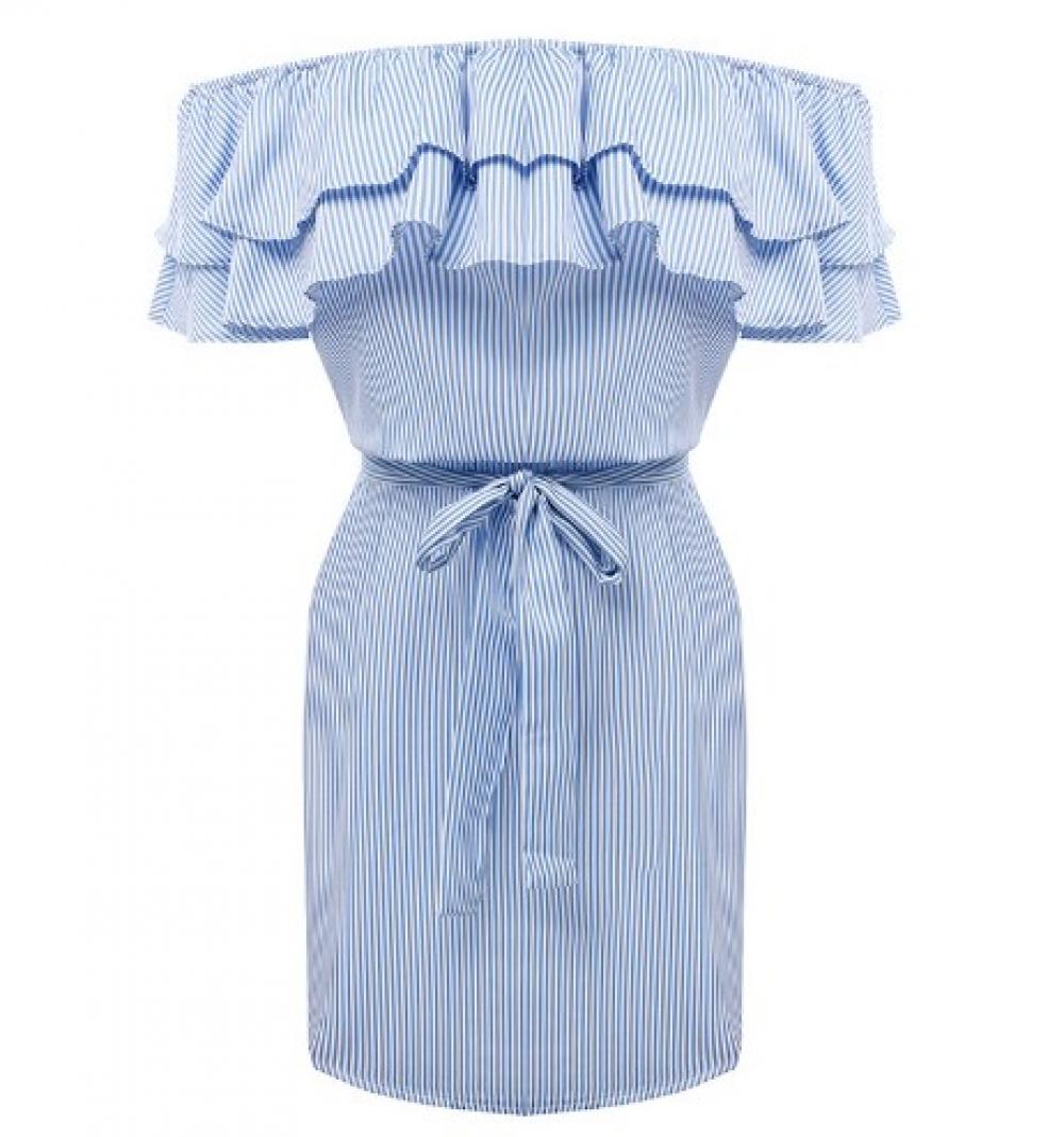 #beautiful #love Women's Striped Off-Shoulder Dress