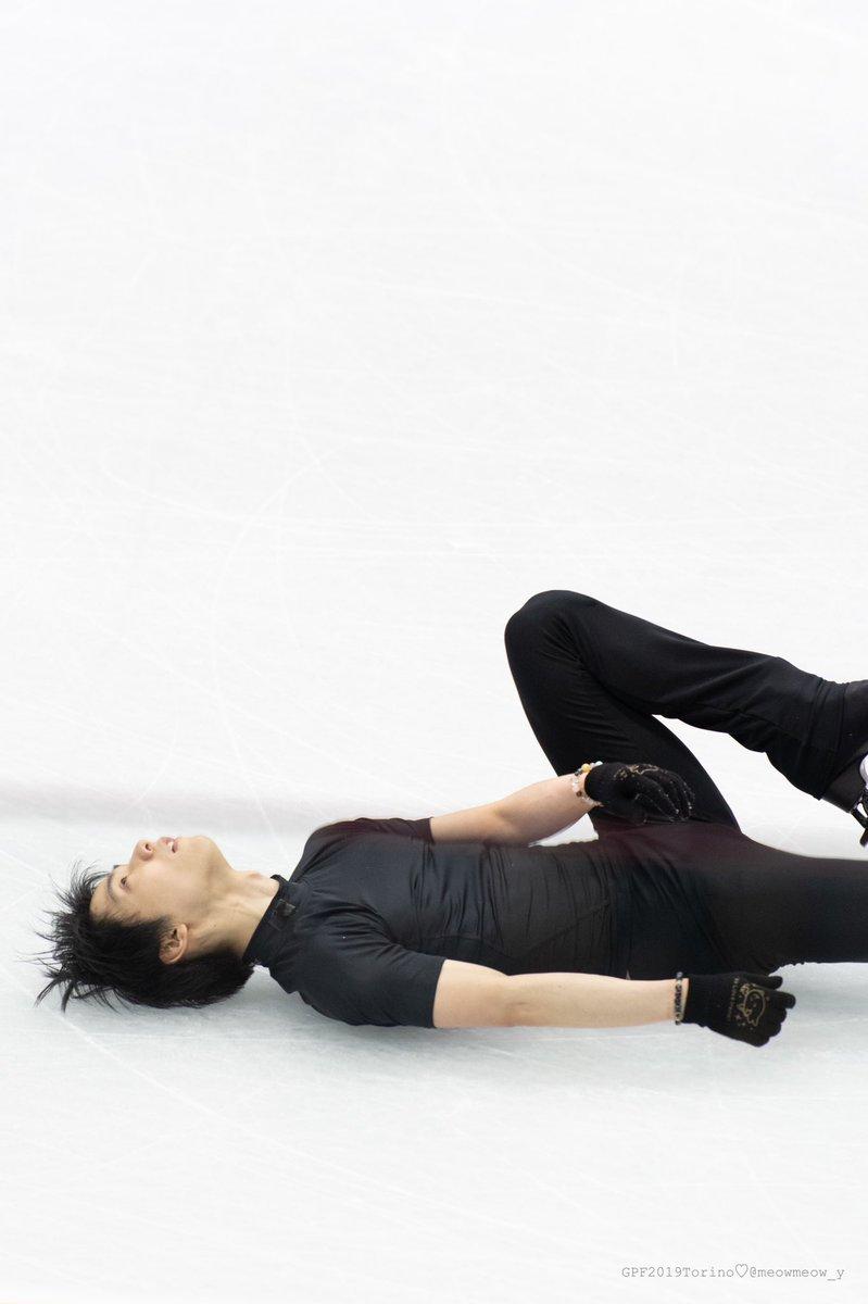 最後の4Afall後のこの表情、本当にただ練習してただけと思えない気迫だったんですけど😇#羽生結弦 #YuzuruHanyu #GPF2019 #GPFTorino